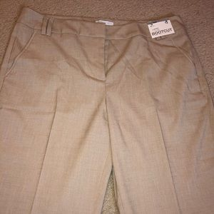 Beige Bootcut Dress Pants